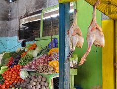 Stilleben von Hühnern und Gemüse