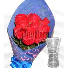 Half dozen bouquet of elegant long stemmed red roses with an exquisite glass vase of approximately 9 inches tall as a Graduation gift to your recipient after all the hardship and sleepless nights of study. Shipped in a box and comes with a FREE personalized beautiful message card. Online Flower Shop, Red Rose Bouquet, Sleepless Nights, Message Card, Graduation Gifts, Red Roses, Glass Vase, Study, Elegant