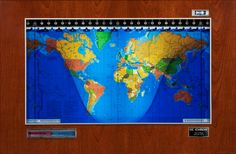 The Geochron allows any observer to determine what time it is anywhere in the world.