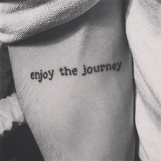 Enjoy the journey #tattoo on @jakeduval! ❣ #tattoos