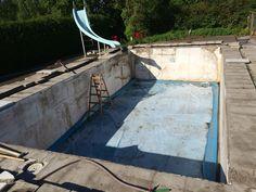Udskiftning af lineren i en betonpool 4 x 8 x 1,5 i Holbæk.
