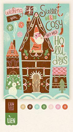 © Lien Geeroms #christmas #holiday #illustration. 2014