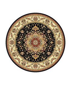 Safavieh Lyndhurst Collection Traditional Black/ Ivory Rug (8' Round) - Overstock™ Shopping - Great Deals on Safavieh Round/Oval/Square