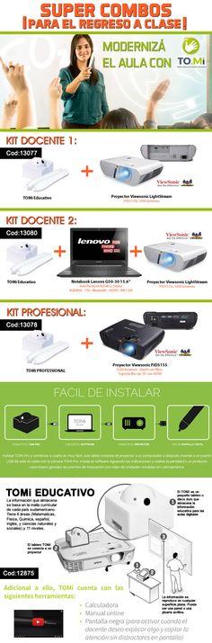 #AulaDigital #TOMI #Kit #Docentes y #Profesional: #proyector #notebook  www.gvinformatica.com.ar  #Olivos_VL