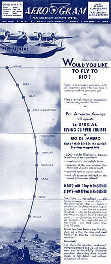 PAA Flying Clipper Cruises to South America 1941 - Pan American World Airways - Wikipedia, the free encyclopedia Flying Ship, Flying Boat, National Airlines, Pan Am, Come Fly With Me, Vintage Travel Posters, South America, American, World