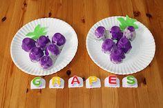 Diapers to Diplomas: Tot School - egg carton grapes. Daycare Crafts, Preschool Crafts, Crafts For Kids, Letter G Activities, Preschool Bulletin Boards, School Themes, Tot School, Summer Fruit, Toddler Preschool