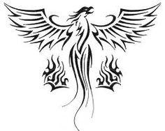 Phoenix tattoo idea ideas with fire flame