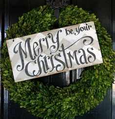 Merry Be Your Christmas wooden sign