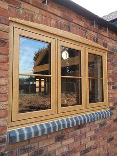 Irish Oak Residence 9 window by Advanced Windows window ideas Garden Room Extensions, Wooden Windows, Cottage Exterior, Windows, Windows Exterior, Cottage Windows, Upvc Windows, Green Windows, Oak Windows
