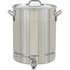 Bayou Classic Stainless Steel 10-Gallon Spigot Pot  @Overstock - Stew up a chicken or two and save the broth for other recipes with this classic stainless-steel stock pot from Bayou Classic. With its 10-gallon capacity, you can invite the whole clan over, and the bottom spigot makes siphoning off liquid easy. http://www.overstock.com/Home-Garden/Bayou-Classic-Stainless-Steel-10-Gallon-Spigot-Pot/6660146/product.html?CID=214117 $149.99