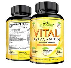One Elevated Vital Eye Complex+ Supplement with Lutein, Zeaxanthin, Lycopene 60 #OneElevated