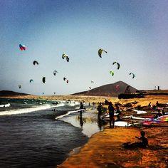 Playa de El Médano en Granadilla de Abona, S/C de Tenerife