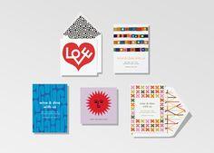 Alexander Girard designs from Paperless Post