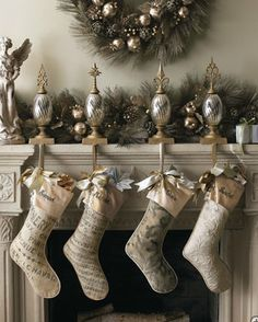 Love the color scheme..not so much the stocking holders.