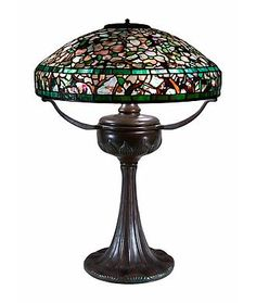 Tiffany Studios Table Lamps height: 25 in.	  x diameter: 18 in.