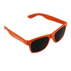 Genuine Volkswagen Relax Shades - Tangelo by Volkswagen. $5.95. These sunglasses are the perfect accessory for the summer! Wear them to the beach, pool, park or just around town and keep your eyes protected from the sun. Made of recycled materials. Tangelo. Volkswagen screened in white on right temple.
