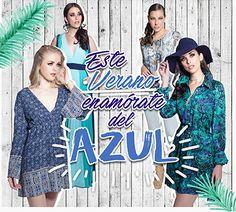 Este verano enamórate del azul Closé #moda #azul #Mexico #verano
