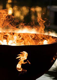 """Fire Pit Art Kokopelli - 36"""" Steel Fire Pit (KO)"""