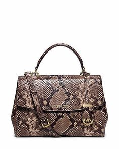 Michael Michael Kors Ava Medium Python Embossed Satchel