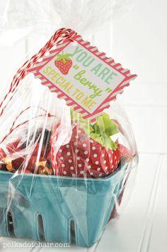 Strawberry Basket Gift Idea- CUTE!