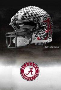 """Alabama Nike Pro Combat Concept Helmet.""   Pretty sick looking!"