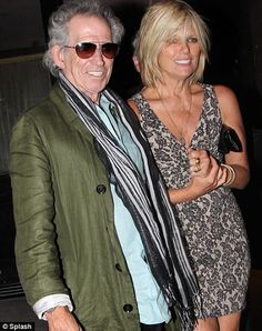Keith Richards with wife Patti Hansen last week. She revealed in an interview today how she has secretly been fighting bladder cancer