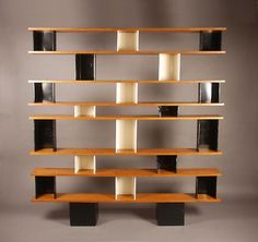 Charlotte Perriand and Jean Prouve c 1950 - Magen Gallery Funky Furniture, Vintage Furniture, Furniture Design, Charlotte Perriand, Design Creation, Bookcase Shelves, Shelving Units, Bookcases, Shelf Design