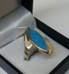 Vintage Ringe - Ring Silber 925 mit Türkis tolles Design SR704 - ein Designerstück von Atelier-Regina bei DaWanda