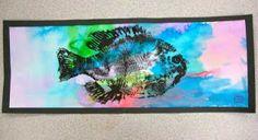 Gyotaku Printmaking for kids   Dali's Moustache