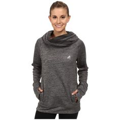 adidas Team Issue Fleece Exaggerated Mock Pullover Women's Long Sleeve... ($60) ❤ liked on Polyvore featuring activewear, activewear tops, long sleeve pullover, adidas pullover, adidas activewear, fleece pullover and adidas sportswear