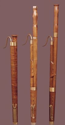 Left to Right: Dulcian, Baroque Bassoon and Classical Bassoon