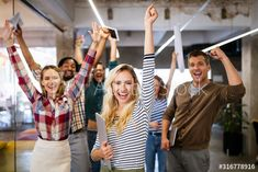 Buy Happy business people celebrating success at company by on PhotoDune. Happy business people celebrating success at company in office Inbound Marketing, Business Website, Healthy Lifestyle, Latest Trends, Bodybuilding, Fitness Motivation, Success, Wellness, Stock Photos