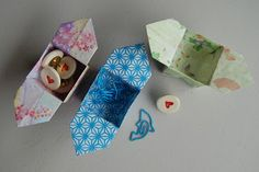 How to make an origami box with flaps. Perfect for candy or stationery.