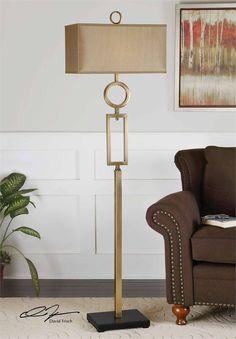 Uttermost Rashawn Contemporary Floor Lamp: For Living Room