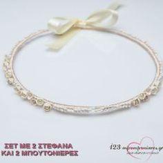 ΣΤΕΦΑΝΑ ΓΑΜΟΥ ΠΟΡΣΕΛΑΝΙΝΑ ΜΕ ΣΠΟΡΑΚΙΑ - ΣΕΤ - ΚΩΔ:N316-SL Bangles, Bracelets, Gold Rings, Rose Gold, Jewelry, Jewlery, Bijoux, Schmuck, Jewerly
