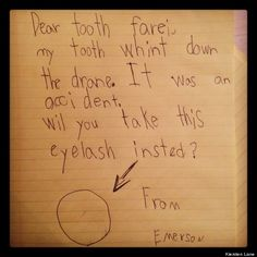 15 adorable letters to the tooth fairy via Huffington Post #dentistry