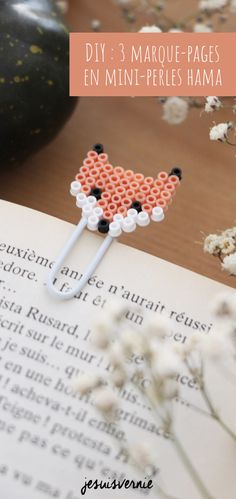 DIY : des marque-pages en mini-perles HAMA - Outdoor Kitchen Bars Easy Perler Bead Patterns, Perler Bead Templates, Diy Perler Beads, Perler Bead Art, Hama Beads Disney, Hama Mini, Mini Hama Beads, Diy Cadeau Maitresse, Hamma Beads Ideas