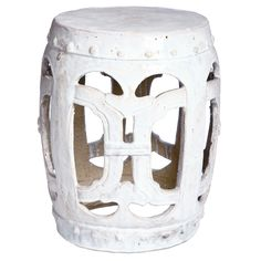 You dont need a lot of space to relax in your garden thanks to this traditional ceramic garden stool. Hand-crafted from ceramic and clay, the stool features an elegant Chinese design, and it is the perfect size for sitting and enjoying the day.