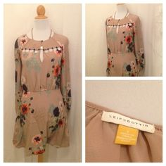 Great Anthropologie Leifdottir brown dress size 2 avail now