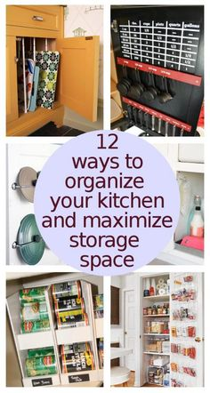 12 Ways To Organize Your Kitchen To Maximize Storage
