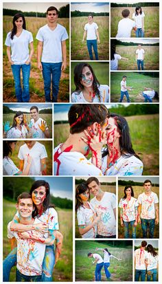 A paint fight captured by Black Fox Photo    @BlackFoxPhoto