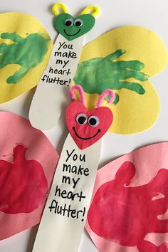 27 Valentine& Day Crafts for Kids - Fun Heart Arts and Crafts Projects for . Valentine's Day Crafts For Kids, Valentine Crafts For Kids, Daycare Crafts, Mothers Day Crafts, Arts And Crafts Projects, Toddler Crafts, Preschool Crafts, Kids Craft Projects, Crafts For Babies