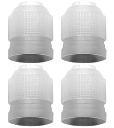 LiveEco Russian Piping Tip Couplers | 4-Pack | For Large Size Icing Nozzles | Quickly and Easily Attach and Swap Piping Tips >>> Unbelievable  item right here! : Decorating Tools