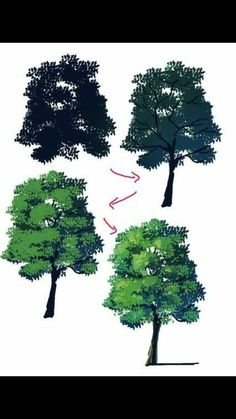 Come disegnare gli alberi Hello everyone! Drawing trees seems easy but in reality it is not. Digital Painting Tutorials, Digital Art Tutorial, Art Tutorials, Digital Paintings, Drawing Tutorials, Art Sketches, Art Drawings, Drawing Faces, Poses References
