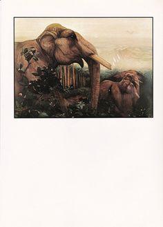 vintage Jungle Book illustration victorian Julius Detmold Kipling Elephant…
