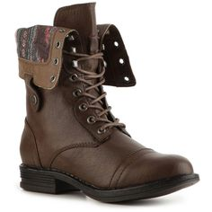 Madden Girl Zorrba Boot - Brown ❤ liked on Polyvore