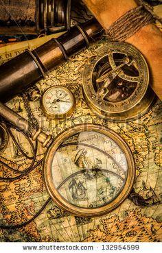 Compass Vintage Stock Photos, Compass Vintage Stock Photography, Compass Vintage Stock Images : Shutterstock.com