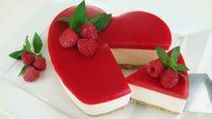 TARTA DE GELATINA Y QUESO SAN VALENTÍN Raspberry Cheesecake, Cheesecake Recipes, Dessert Recipes, Valentine Desserts, Funny Valentine, Valentines, Cupcakes, Cupcake Cakes, Jack Daniels Cake