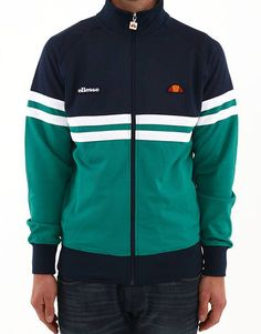 ellesse Heritage present this Rimini track top in blue and pepperand features a full zip fastening, branding to the chest and two open pockets to the front. Th