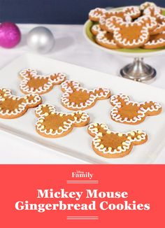 Who needs a gingerbread man when you can have a gingerbread mouse? Mickey brings some Disney spirit to a classic Christmas cookie recipe.